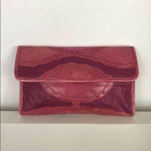 Pink snake skin 80s vintage clutch